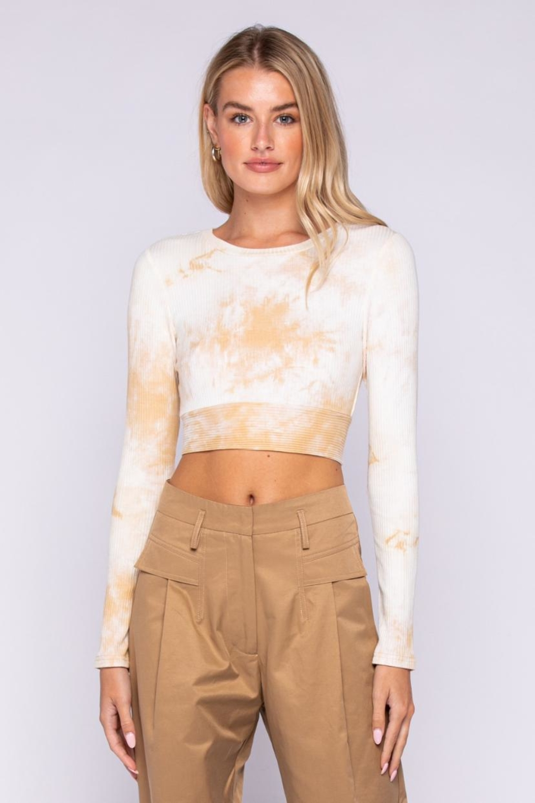 skylar madison Tie-Dye Crop Top - Front Cropped Image
