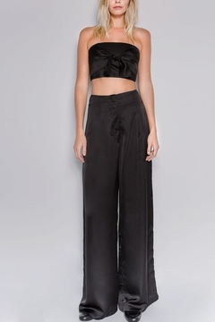 Shoptiques Product: Wide-Legged Satin Pants