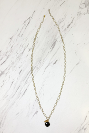 Midori Linea Skylights Long Chain Necklace w Stone - Front cropped