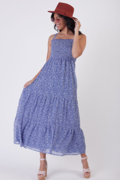Dex SL SMOCKED DETAIL TIERED MAXI DRESS - Product List Image