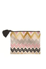 Slant Chevron Canvas Bag - Product Mini Image