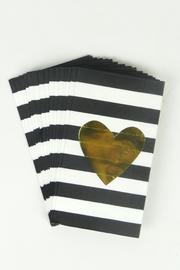Slant Gold Heart Guest-Towels - Product Mini Image