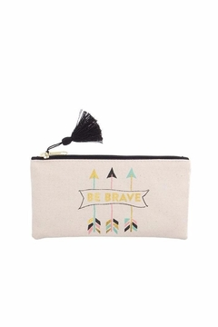 Slant Collections Be Brave Cosmetic Bag - Alternate List Image