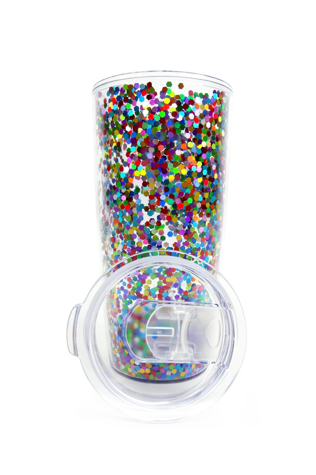Slant Collections Confetti Travel Tumbler - Front Full Image