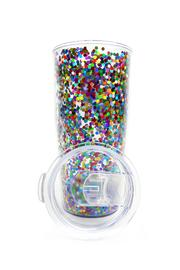 Slant Collections Confetti Travel Tumbler - Front full body
