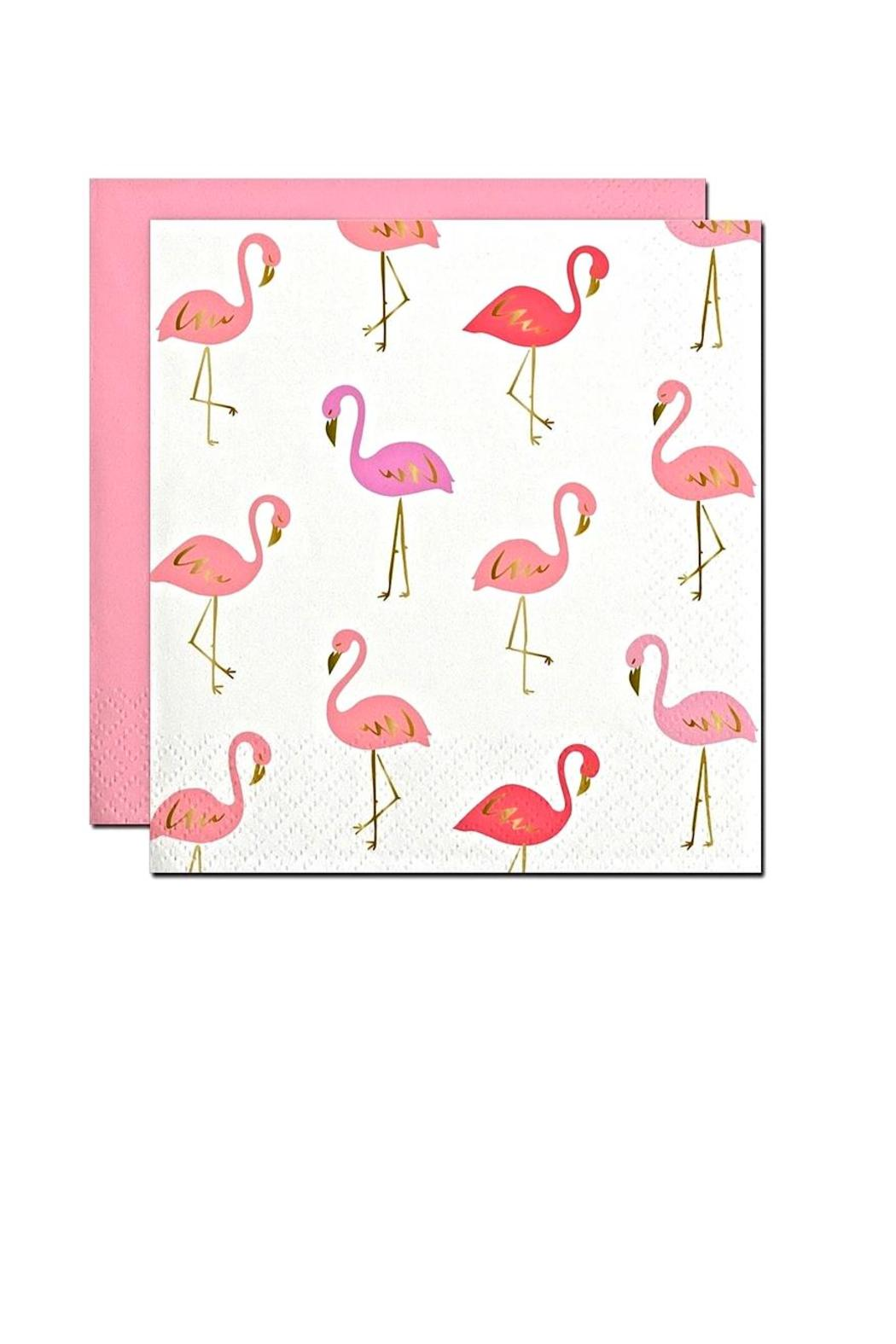 Slant Collections Flamingo Cocktail Napkins - Front Cropped Image