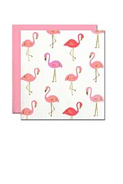 Slant Collections Flamingo Cocktail Napkins - Front cropped