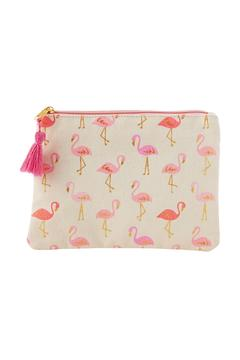 Shoptiques Product: Flamingo Cosmetic Bag