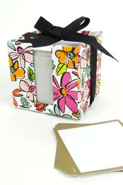 Slant Collections Floral Note Cube - Front cropped