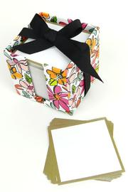 Slant Collections Floral Note Cube - Other