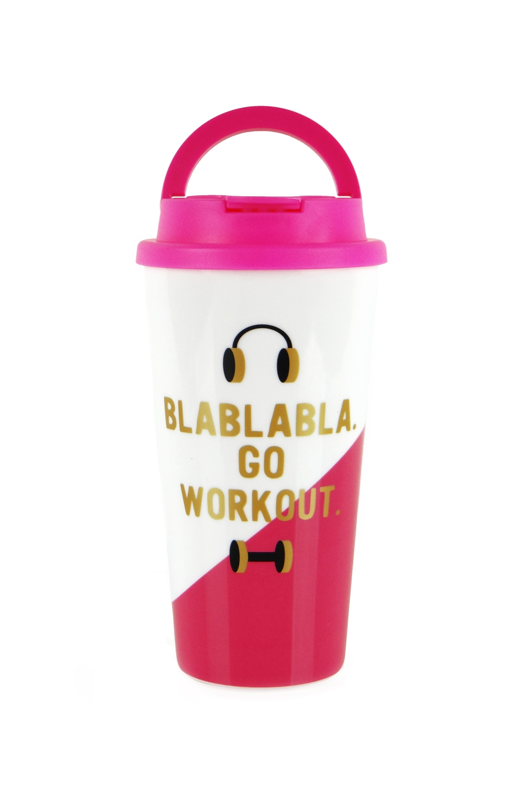 Slant Collections Go-Work-Out Travel Tumbler - Front Cropped Image