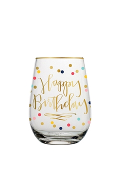 Shoptiques Product: Happy Birthday Glass