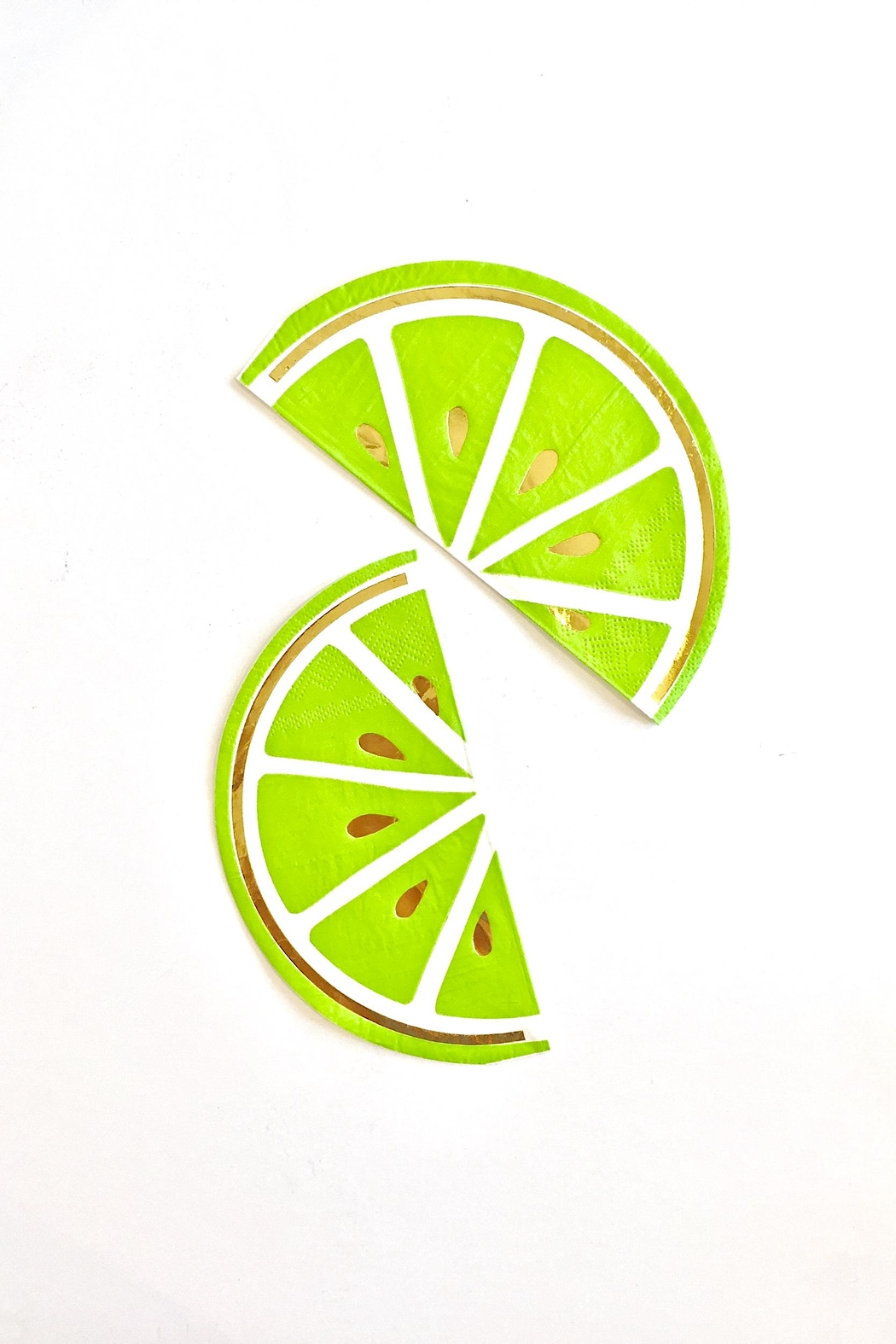 Slant Collections Lime Beverage Napkins - Front Full Image