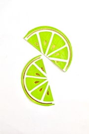 Slant Collections Lime Beverage Napkins - Front full body