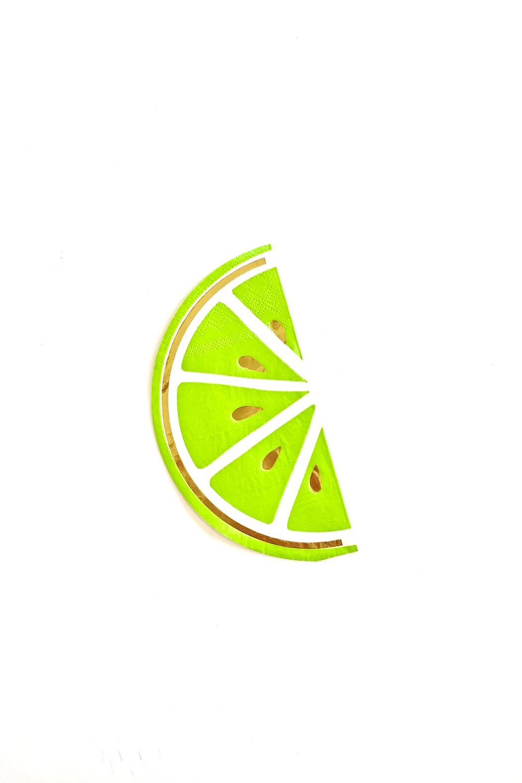 Slant Collections Lime Beverage Napkins - Main Image