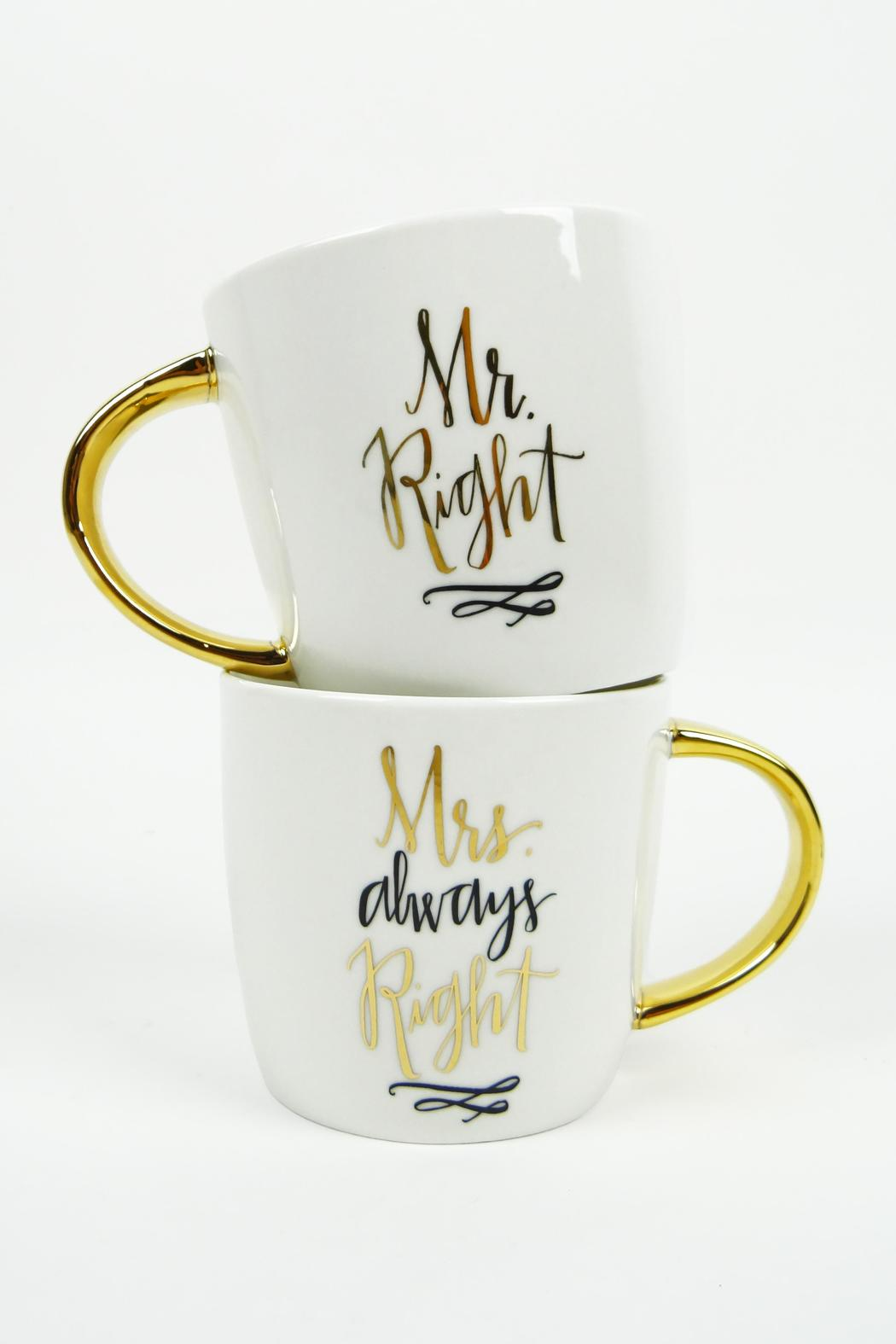 Slant Collections Mr./Mrs. Right Mugs - Main Image