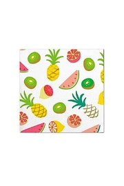 Slant Collections Tropical Cocktail Napkins - Front cropped