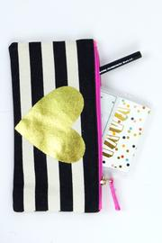Slant Collections Stripe Pencil Case - Front full body
