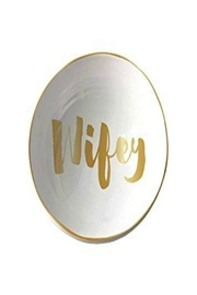 Slant Collections Wifey Trinket Tray - Front cropped