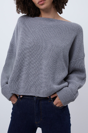 French Connection Slash Neck Cotton Jumper - Product Mini Image