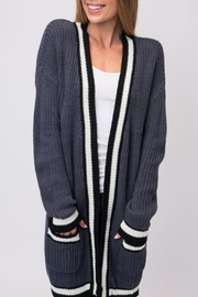 Cozy Casual Slate Blue Cardigan - Product Mini Image