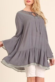 Umgee USA Slate-Grey Layered-Bell-Sleeve Tunic - Product Mini Image