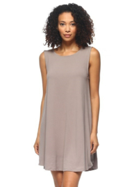Capella Apparel Slate Sleeveless Dress - Front cropped