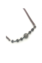 Slate Gray Gallery Hemative Leather Necklace - Front full body