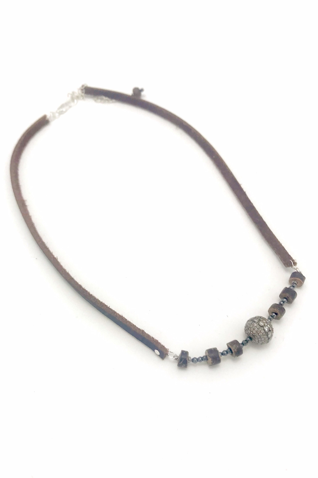 Slate Gray Gallery Hemative Leather Necklace - Main Image