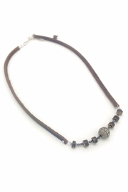 Slate Gray Gallery Hemative Leather Necklace - Front cropped
