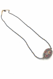 Slate Gray Gallery Ruby Diamond Necklace - Front cropped