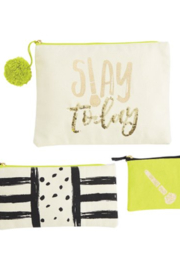 Mud Pie Slay Today Cosmetic Bag Trio - Product Mini Image