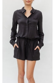 rokoko Sleek Button-Up Romper - Product Mini Image