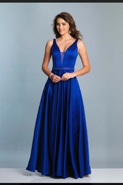 Dave and Johnny Sleek Plunging Gown - Product Mini Image
