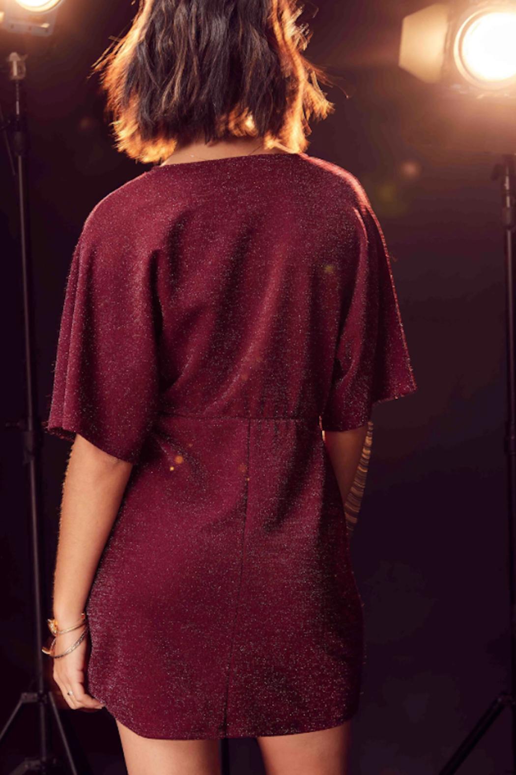 SAGE THE LABEL Sleepless Nights Knot Dress - Front Full Image