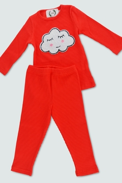 T & Tim Sleepy Cloud Pajamas in Red - Product List Image