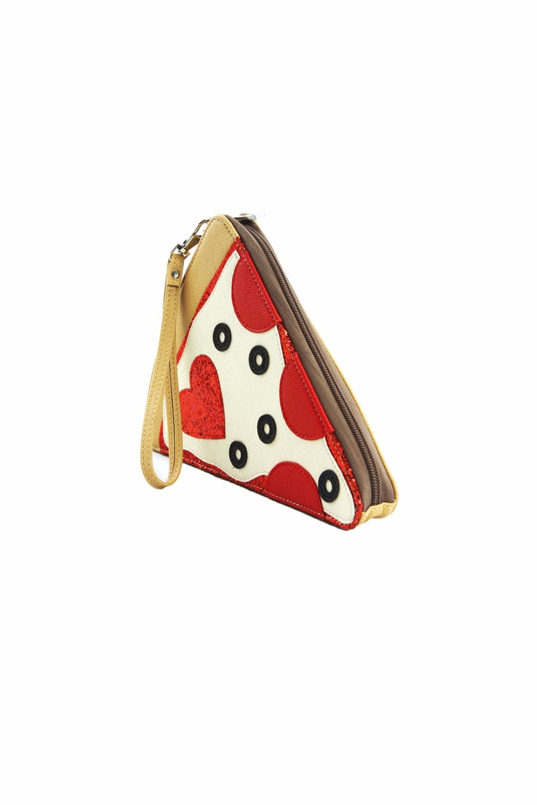 Sleepyville Critters Pizza Wristlet Purse - Front Full Image