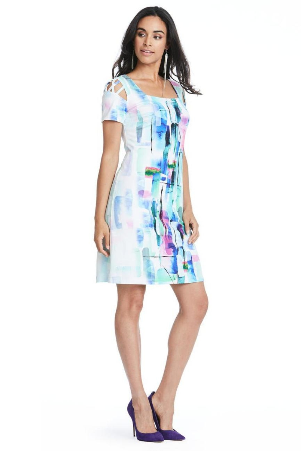 Cartise Sleeve Cutouts Dress - Front Cropped Image