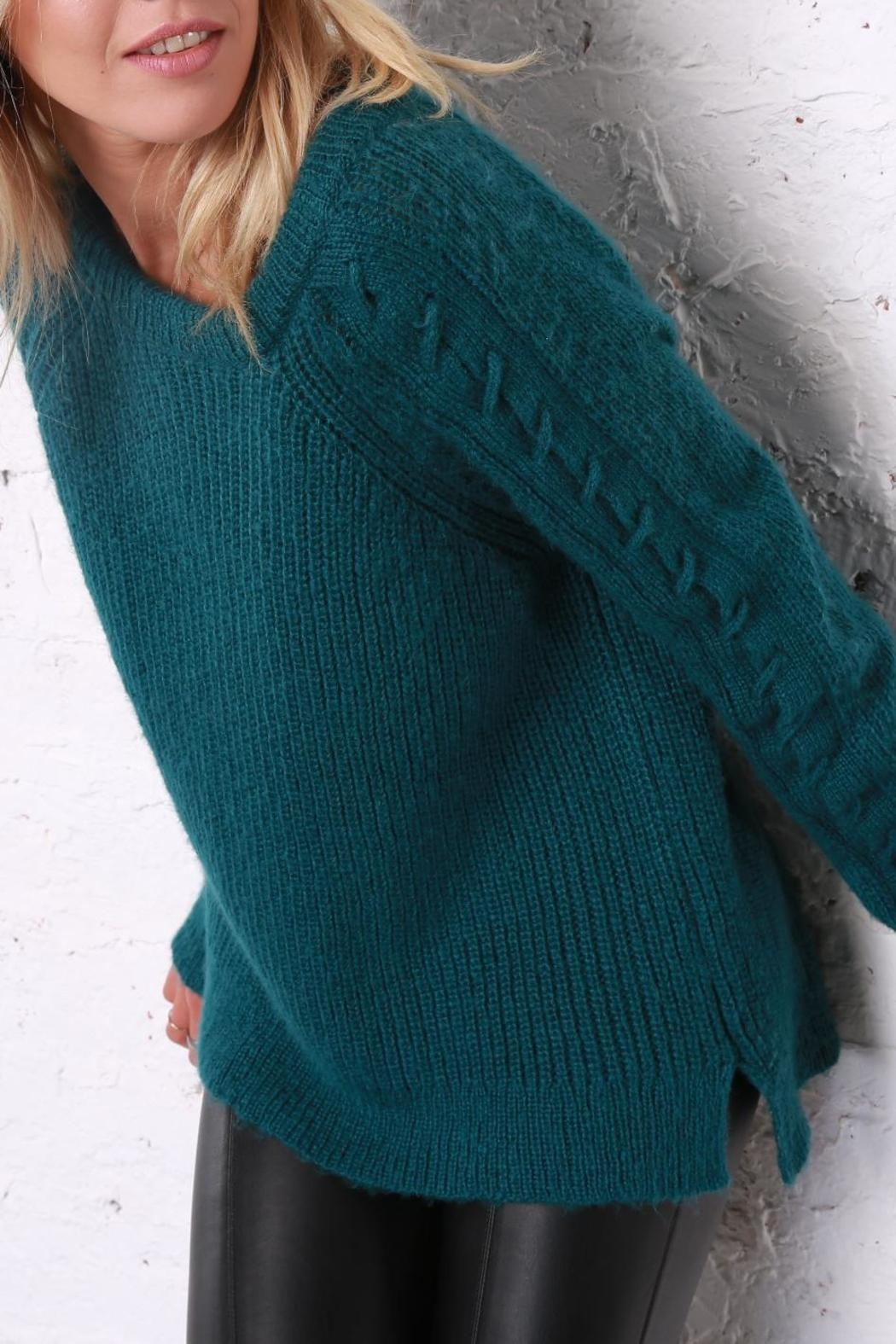 Wooden Ships Sleeve Detail Sweater - Front Full Image