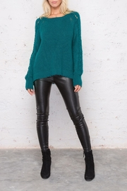 Wooden Ships Sleeve Detail Sweater - Side cropped