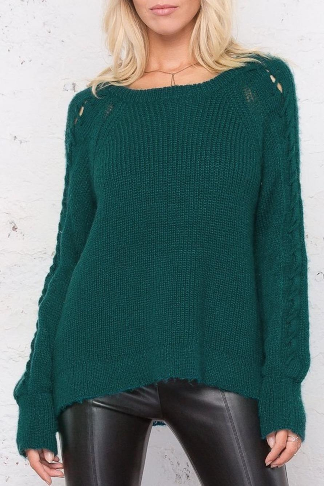 Wooden Ships Sleeve Detail Sweater - Main Image