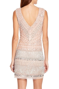Adrianna Papell Sleeveless Beaded Sheath Dress With Fringe Detail - Alternate List Image
