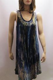 India Boutique SLEEVELESS TIE DYE BIAS DRESS - Product Mini Image