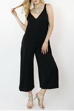 Hashttag Sleeveless Black Jumpsuit - Product List Image