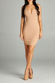 A Peach Sleeveless Bodycon Dress - Product Mini Image