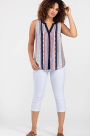 Tribal  Sleeveless button-down top - Product Mini Image