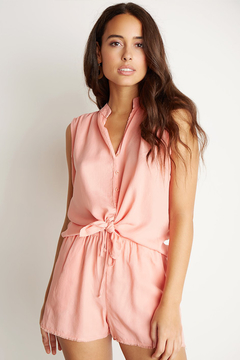 Bella Dahl SLEEVELESS BUTTON FRONT BLOUSE - Product List Image