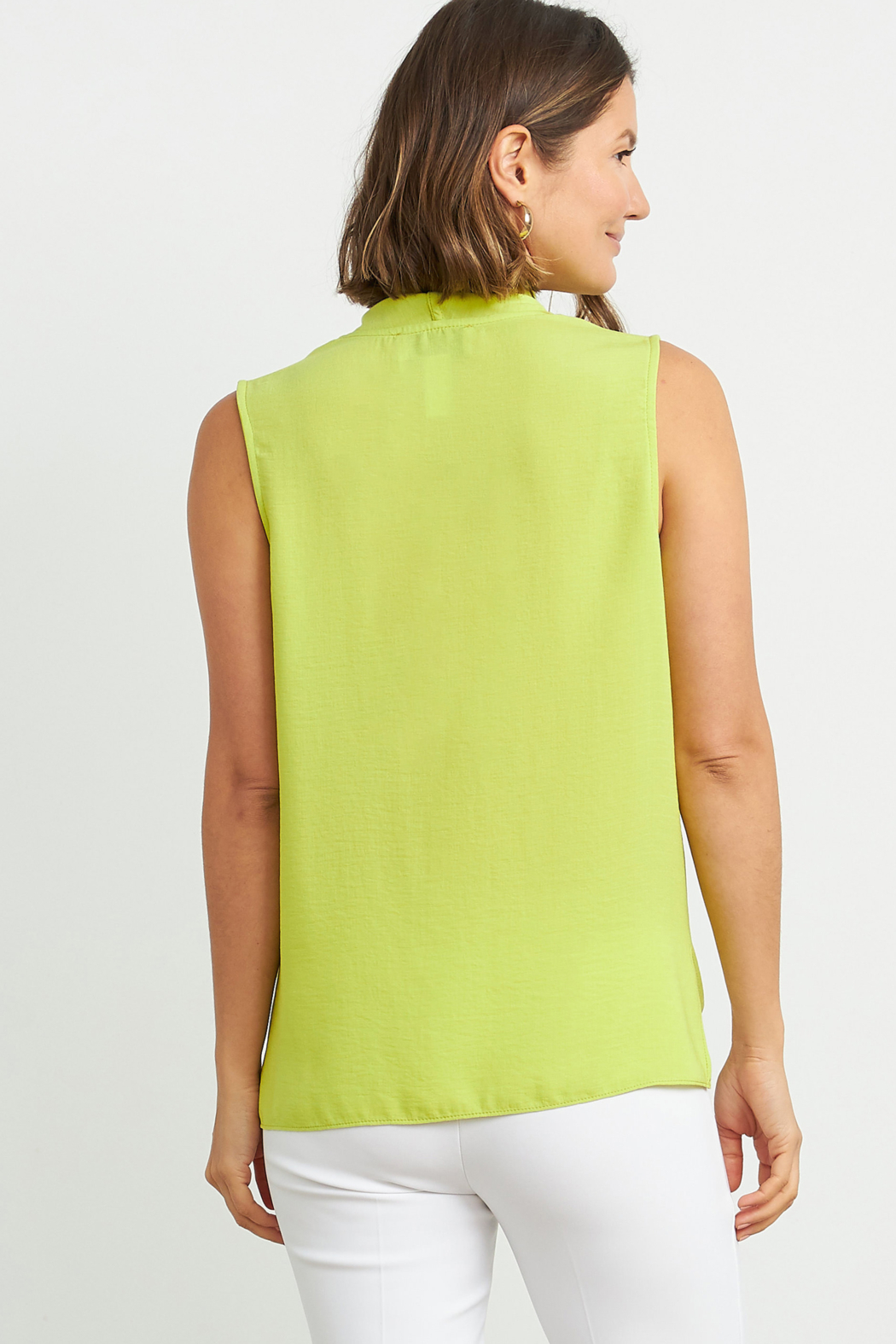 Joseph Ribkoff  Sleeveless button-up blouse - Front Full Image