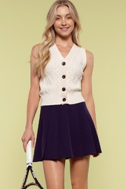 blu pepper  Sleeveless Cable Knit Sweater Vest - Product Mini Image