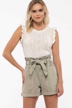 Mine Sleeveless Cable Knit Top - Product List Image